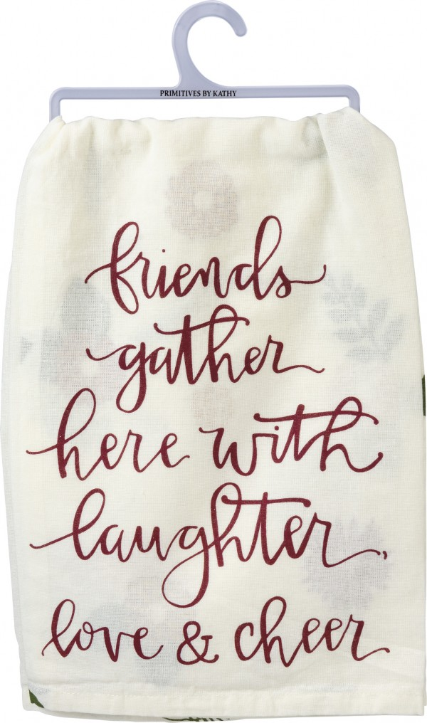 Tea Towel - Friends Gather With Love & Cheer