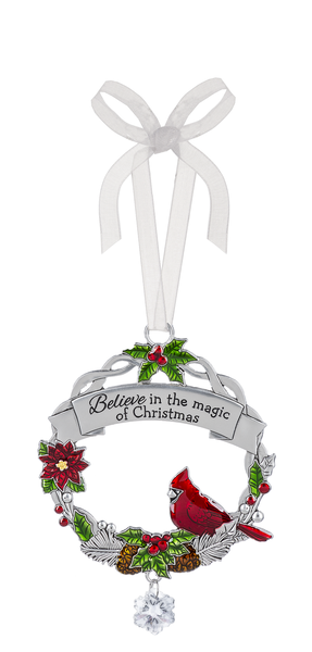 Cardinal Wreath Ornament