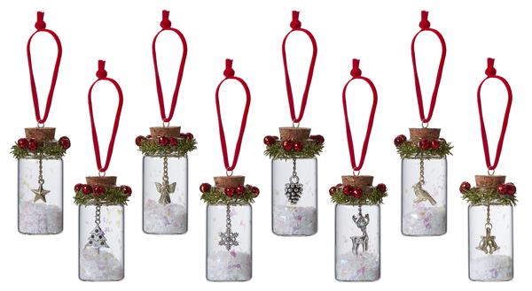 Teeny Cork Stopper Charm Jar Ornament