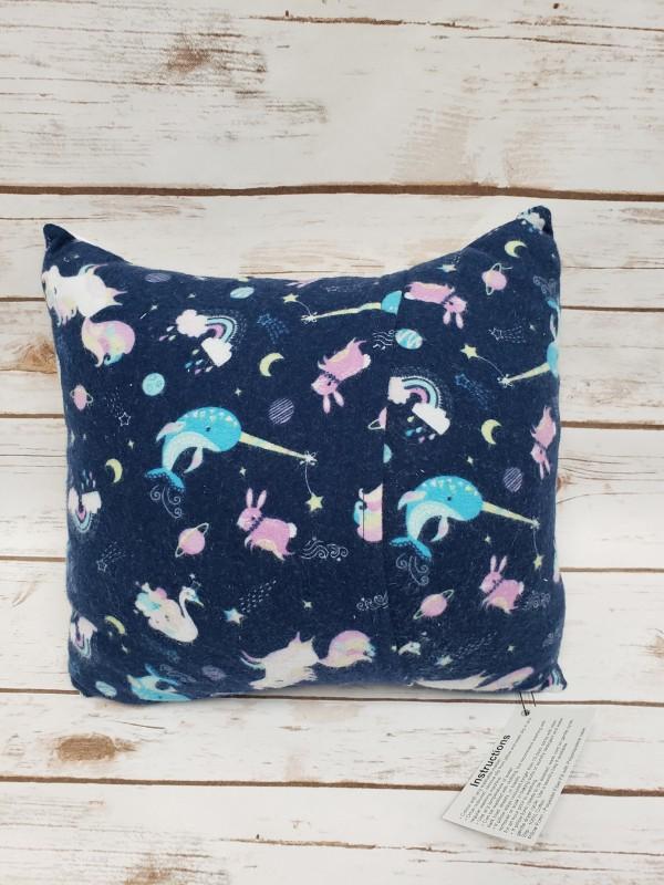 V84 Blue Narwhals w/ Princesses Colour Pillow