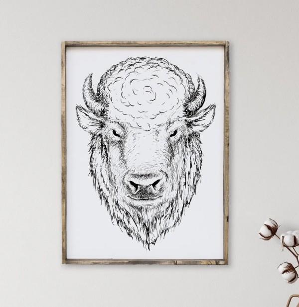 V1 Bison Sign