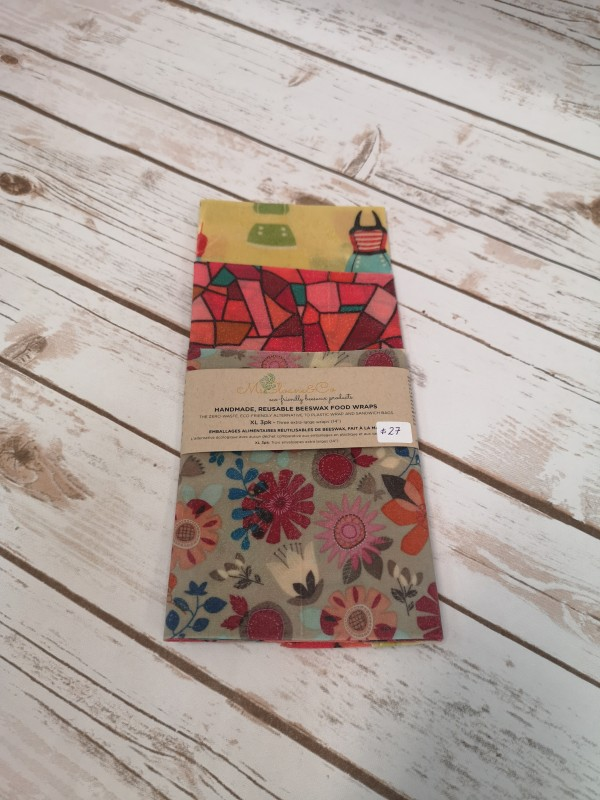 V101 Beeswax Wraps XL 3 pack