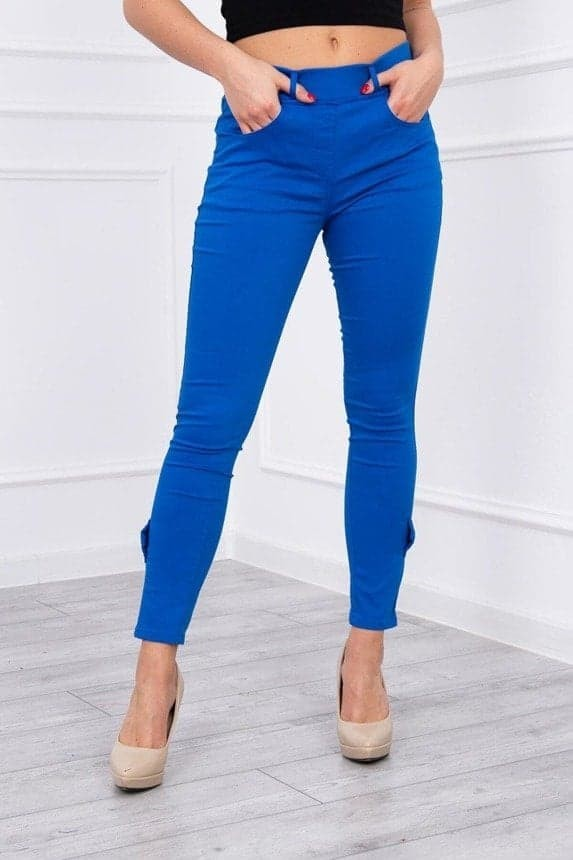 Blue Pants with the bow and zipper Kesi