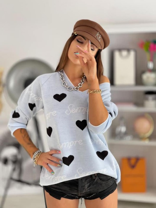 Sweaters with hearts one size