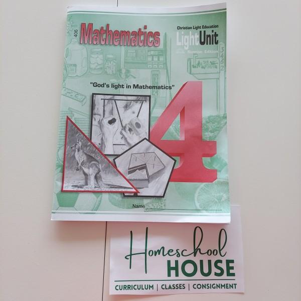 Christian Light Mathematics 4 Workbook 406