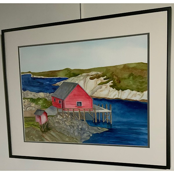 FEATURE ARTIST: Peggy's Boat House  Original framed watercolour by Patricia Duwyn