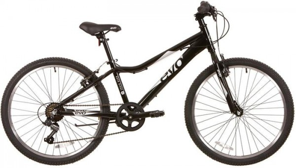Evo Rock Ridge 24 Kids Bike, Black
