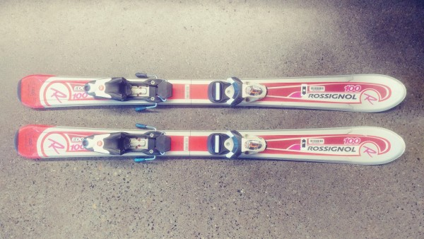 Rossignol Edge Jr 100 Skis + Comp Kid Bindings