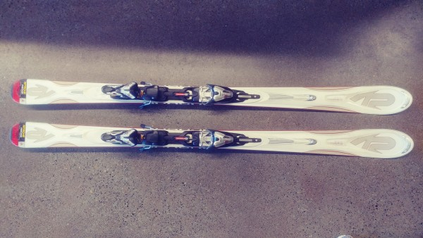 K2 Apache Recon 160 Skis + Titanium 12.0 Bindings