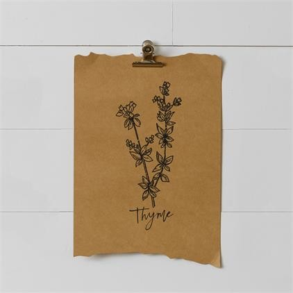8WH815 Paper Wall Hanging - Lavender, Mint, Thyme