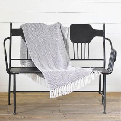 PDINAB-13 60 X 48 GREY STRIPE THROW