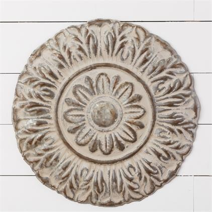 8WH782 Wall Decor - Round Embossed