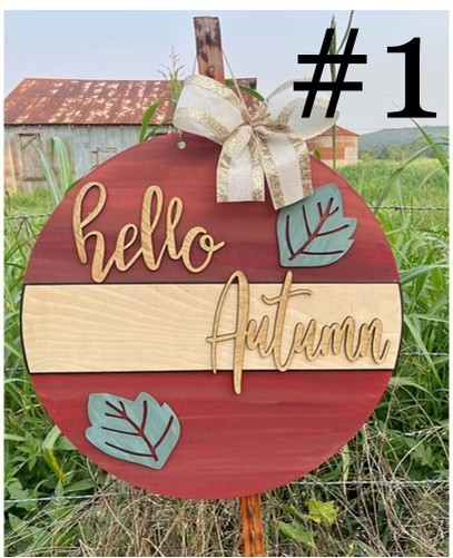 10-9-21 Class @ 2pm - Fall Sign Painting