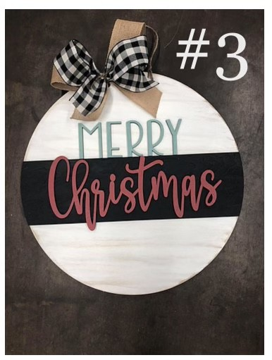11-6-21 2PM Class - Christmas/Winter Sign Painting