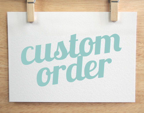 SALES & CUSTOM ORDERS