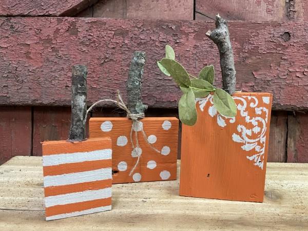 10-7-21 Class - Pumpkin Blocks Set of 3