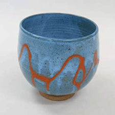 Wax Resist Bowl by Caryn Newman (Pottery)