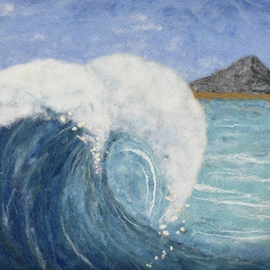 Big Wave Needlefelt by Nancy Gibbs (Folk & Fiber)