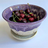 Berry Colander Purple and White by Caryn Newman (Pottery)