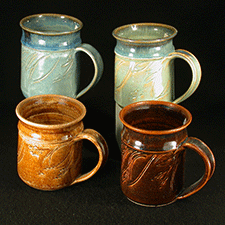 Mugs by Joyce Inderbitzin (Pottery)