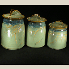 Canister Set by Joyce Inderbitzin (Pottery)