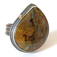 Boulder Opal Ring by Yanina Siani (Jewelry)