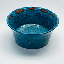 Turquoise Flared Bowl by Caryn Newman (Pottery)