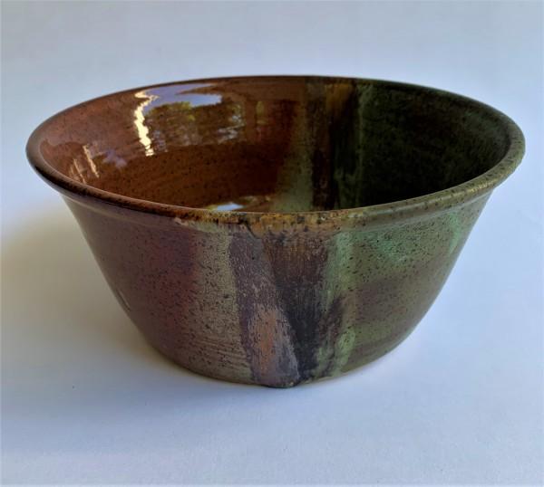 CN Flat Bowl Ancient Red/Verdigris