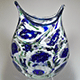 Cat-Head Flat Murrini Vase by Dan Burstein (Glass)