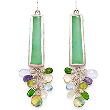Chrysoprase Earrings by Bette Conway (Jewelry)