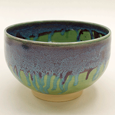 Bowl with drip glaze by Caryn Newman (Pottery)