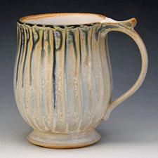 Blue Ash Slip Mug by Marian Van Buren (Pottery)