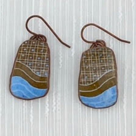 Pysanka Eggshell Earrings by Basia Andrusko (Pysanka)