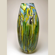 Tall Vase by Dan Burstein (Glass)