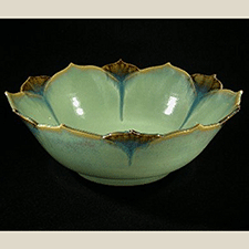 Double Lotus Bowl by Joyce Inderbitzin (Pottery)