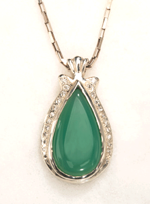 Chrysoprase Necklace by Virginia DeNale (Jewelry)