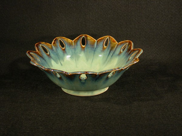 JI Bowl Jewels 8in Green