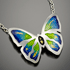 Butterfly Champleve Necklace by Monique Perry (Jewelry)