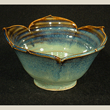 Lotus Dessert Bowl by Joyce Inderbitzin (Pottery)