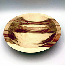 Turned Wood Shallow Bowl by Alan Adler (Wood)