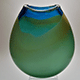 Landscape Flat Vase by Dan Burstein (Glass)