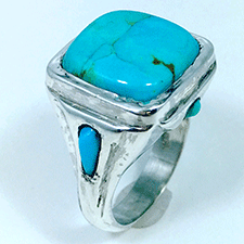 Turquoise Ring by Virginia DeNale (Jewelry)