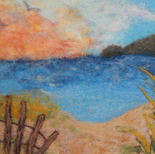 Beach Sunset Needlefelt by Nancy Gibbs (Folk & Fiber)