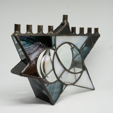 Menorah by Jill Tarabar (Stained Glass)