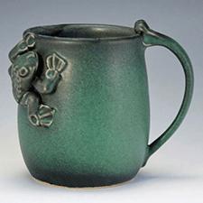 Small Frog Mug by Marian Van Buren (Pottery)