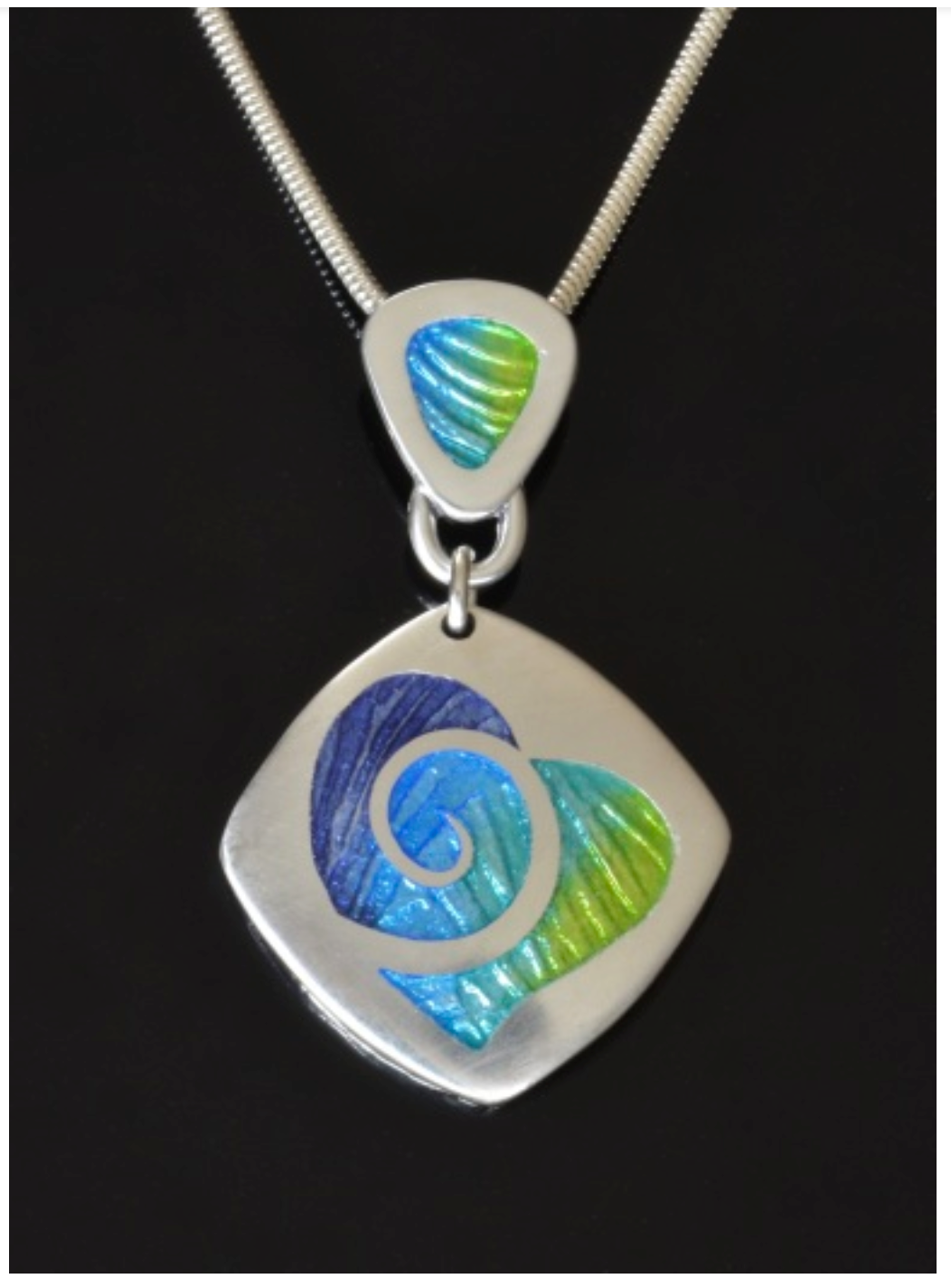 Champleve pendant by Monique Perry (Jewelry)