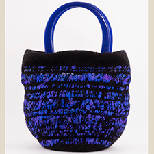Medium Indigo Bag by Mette Pedersen (Wool, Acrylic)