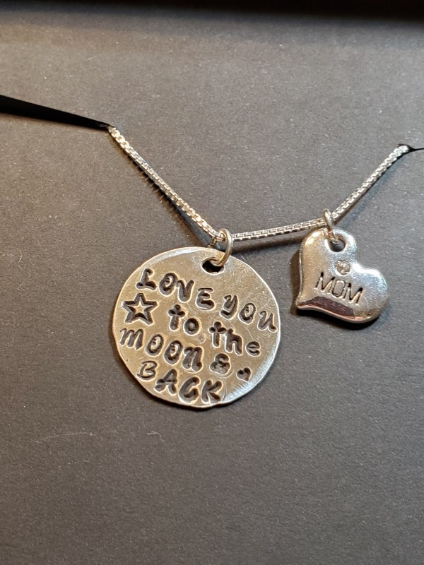 Mom Moon & Back necklace