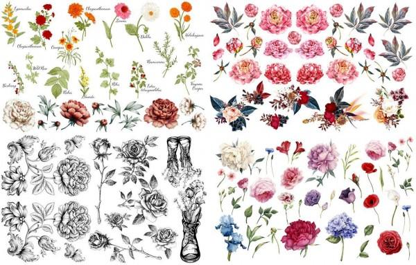 Vintage Floral Transfer