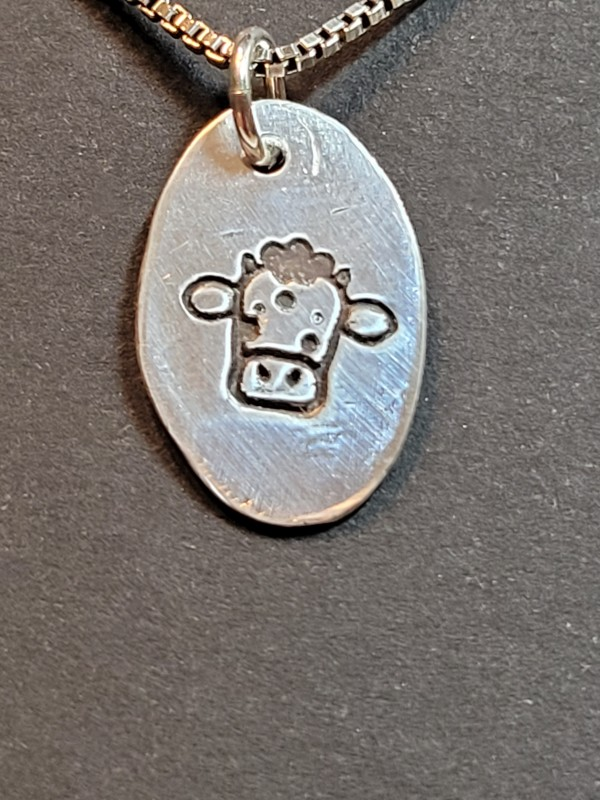 Advice from a Cow necklace